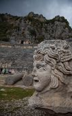Myra ancient theater and medusa
