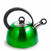 kettle green isolated on white background