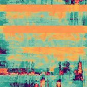 Designed grunge texture or retro background. With different color patterns: yellow (beige); blue; purple (violet); cyan