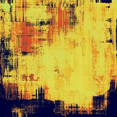 Abstract old background with rough grunge texture. With different color patterns: red (orange); yellow (beige); blue; brown