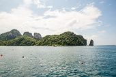 picture of phi phi  - View of Maya Bay Phi Phi island Thailand Phuket - JPG