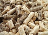 wood pellets close up