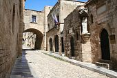 Greece. Rhodos Island. Old Rhodos Town. Street Of The Knights