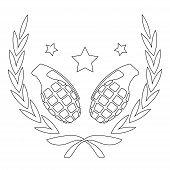 Contour line grenades logo