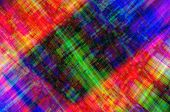 Multicolored patchwork canvas with chaotically scattered lines