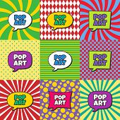 picture of nuke  - pop art retro theme bubble caption vector illustration - JPG