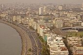 Marine Drive And Downtown Mumbai