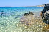 Clear Water At The Scenic Wild Beach, Sithonia, Greece