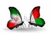Two Butterflies With Flags On Wings As Symbol Of Relations Iran And Madagascar