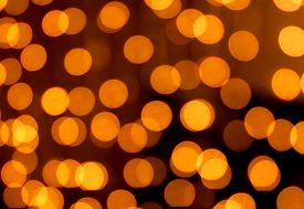 picture of homogeneous  - golden christmas lights abstract homogeneous background texture - JPG