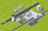 stock photo of terminator  - Airport terminal for arrival and departure of aircraft and passengers traveling - JPG