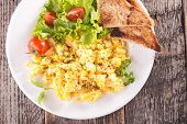 stock photo of scrambled eggs  - scrambled egg - JPG