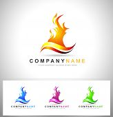 picture of flame  - Fire Flame Logo - JPG