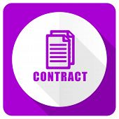 picture of contract  - contract pink flat icon   - JPG
