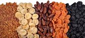 picture of dry fruit  - Heap of dried fruits on a white background - JPG