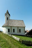 stock photo of chapels  - small mountain chapel in the alps - JPG