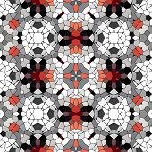 stock photo of kaleidoscope  - Kaleidoscopic mosaic red - JPG