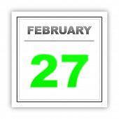 stock photo of february  - February 27 - JPG