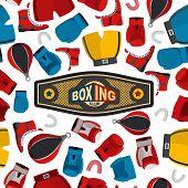 image of boxing gloves  - Boxing Seamless Pattern - JPG