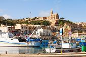 stock photo of gozo  - Port of Mgarr on the small island of Gozo Malta - JPG