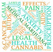 foto of medical marijuana  - Medical marijuana word cloud on a white background - JPG