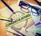 picture of congratulations  - Congratulations Achievement Celebration Admiration Concept - JPG