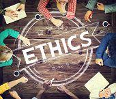foto of integrity  - Ethics Integrity Fairness Ideals Behavior Values Concept - JPG