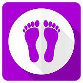image of flat-foot  - foot pink flat icon   - JPG