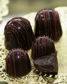 picture of bonbon  - Sweet delicious Chocolate covered bonbons as a treat