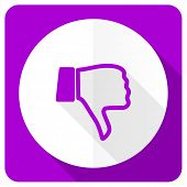 picture of dislike  - dislike pink flat icon thumb down sign  - JPG