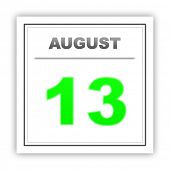 stock photo of august calendar  - August 13 - JPG