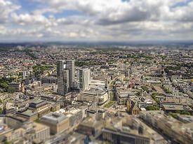 stock photo of frankfurt am main  - aerial view of Frankfurt am Main city centre - JPG