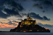 picture of michel  - Mont St Michel illuminated at night - JPG