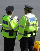 Community support policeman and traffic warden