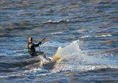 Kiteboarder In The Spray