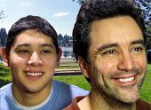 Pai e filho no Parque.