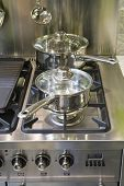 Two Saucepans On A Hob