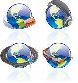 The Globe Icons Set - Design Elements 54B