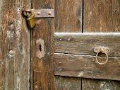 Old Door With Lock