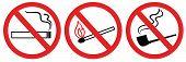 No Smoking Sign, No Fire, No Match, Vector Symbol