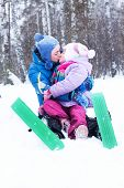 image of luge  - Happy Mother And Daughter - JPG