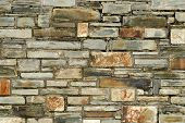 Colorful Stone Wall.