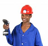 African Man With Drill