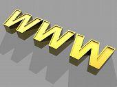 3D World Wide Web Internet Symbol