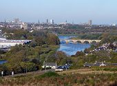 Ariel View Of River Dee Aberdeen