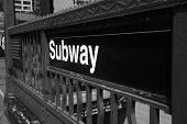 Subway Entrance - New York City