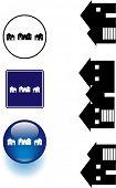 neighborhood houses symbol sign and button