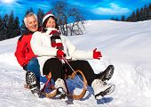 Senior Couple Spaß im Winter