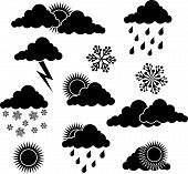 Weather Elements For Design poster