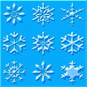 Various Different Snowflakes